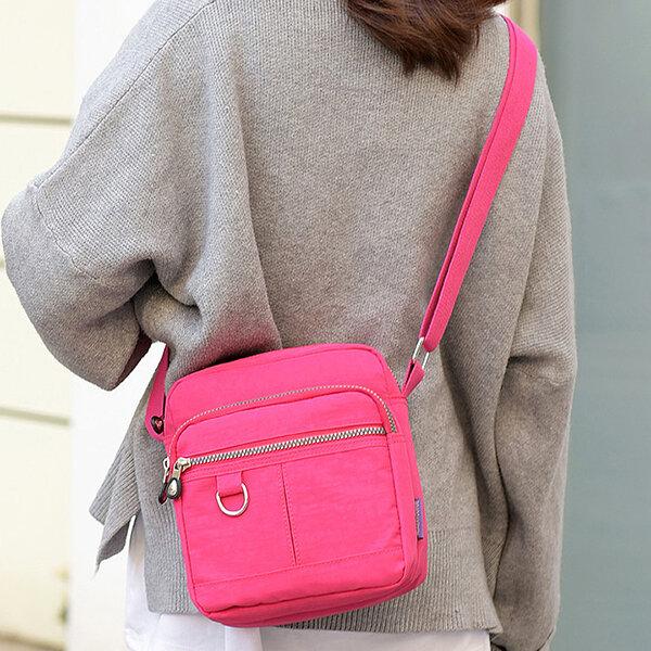 Women Waterproof Casual Crossbody Bag Nylon Shoulder Bag