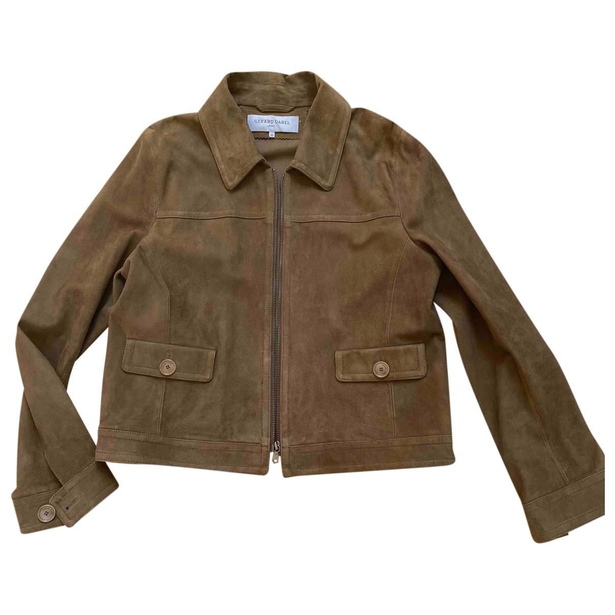 Gerard Darel \N Brown Suede jacket for Women 42 FR