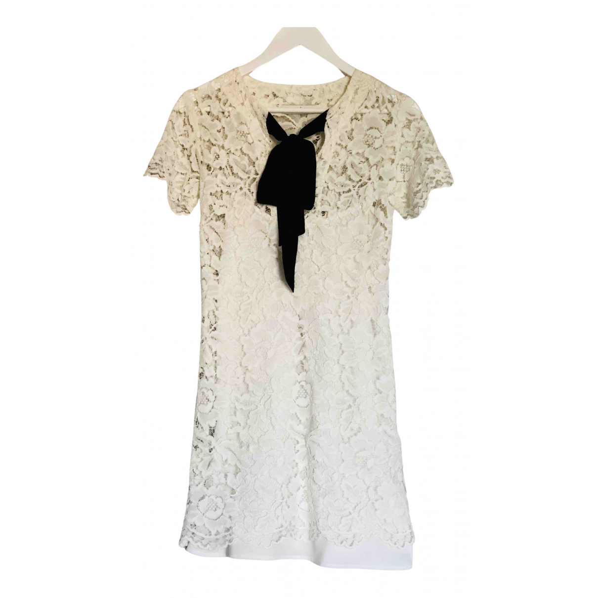Sandro \N White Lace dress for Women 1 0-5