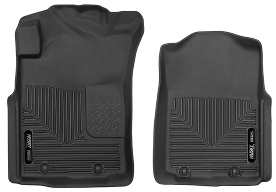 Husky Floor Liners Front 05-11 Toyota Tacoma X-Act Contour-Black