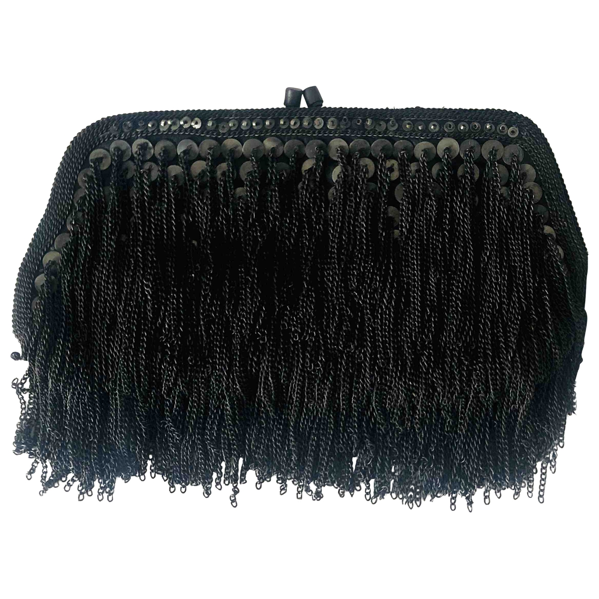 All Saints \N Anthracite Leather Clutch bag for Women \N