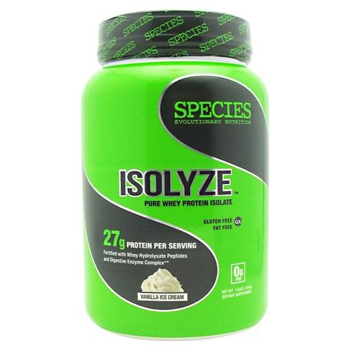 ISOLYZE Vanilla Ice Cream 22 serving by Species Nutrition