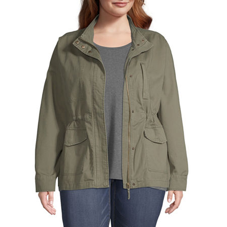 a.n.a Twill Lightweight Anorak Plus, 1x , Green
