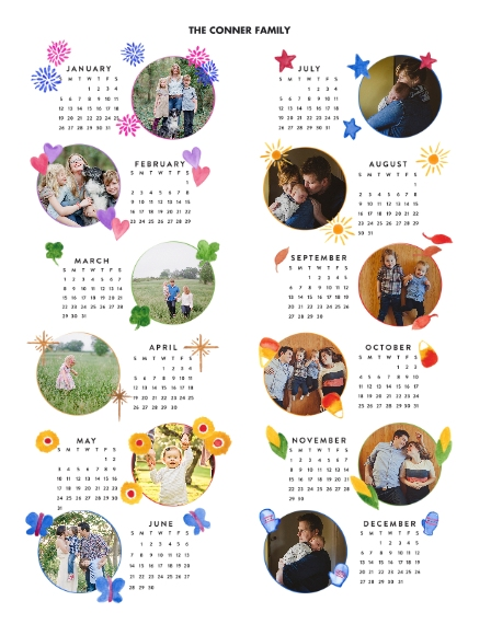 Calendar 11x14 Adhesive Poster, Home Décor -One Wish