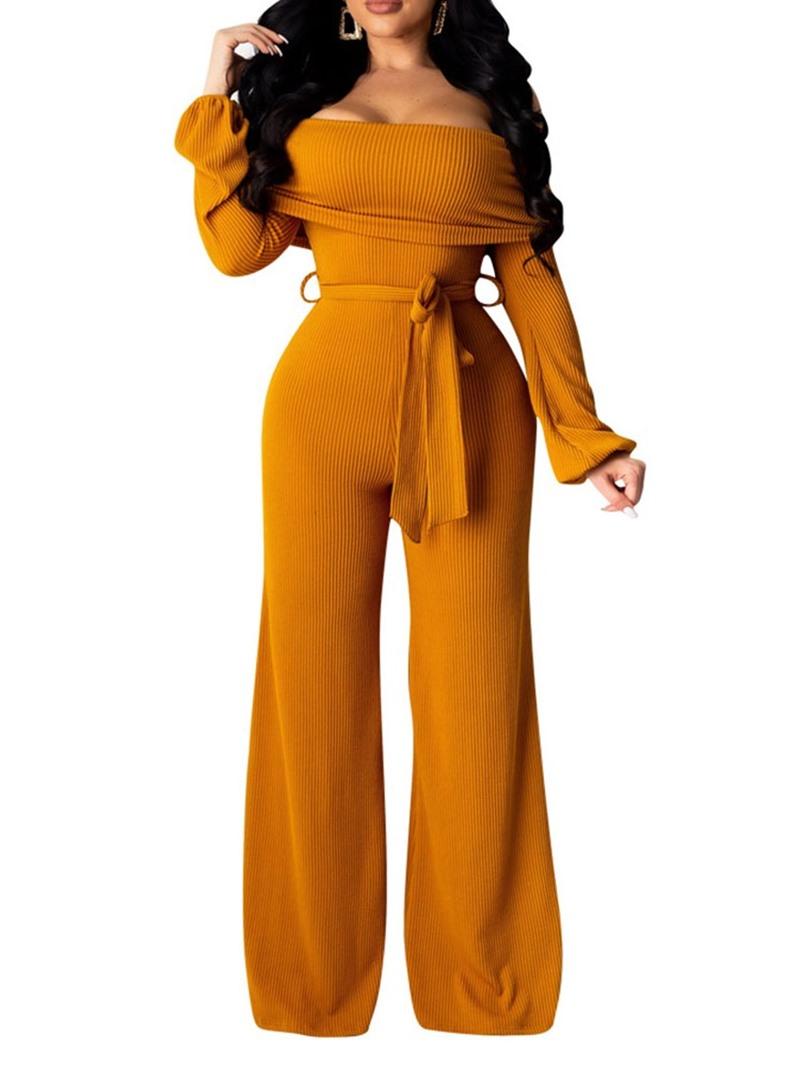 Ericdress Full Length Plain Lace-Up Loose Jumpsuit