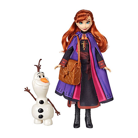 Disney Collection Frozen Anna Doll With Buildable Olaf Figure And Backpack Accessory, Inspired By Disney Frozen 2, One Size , No Color Family