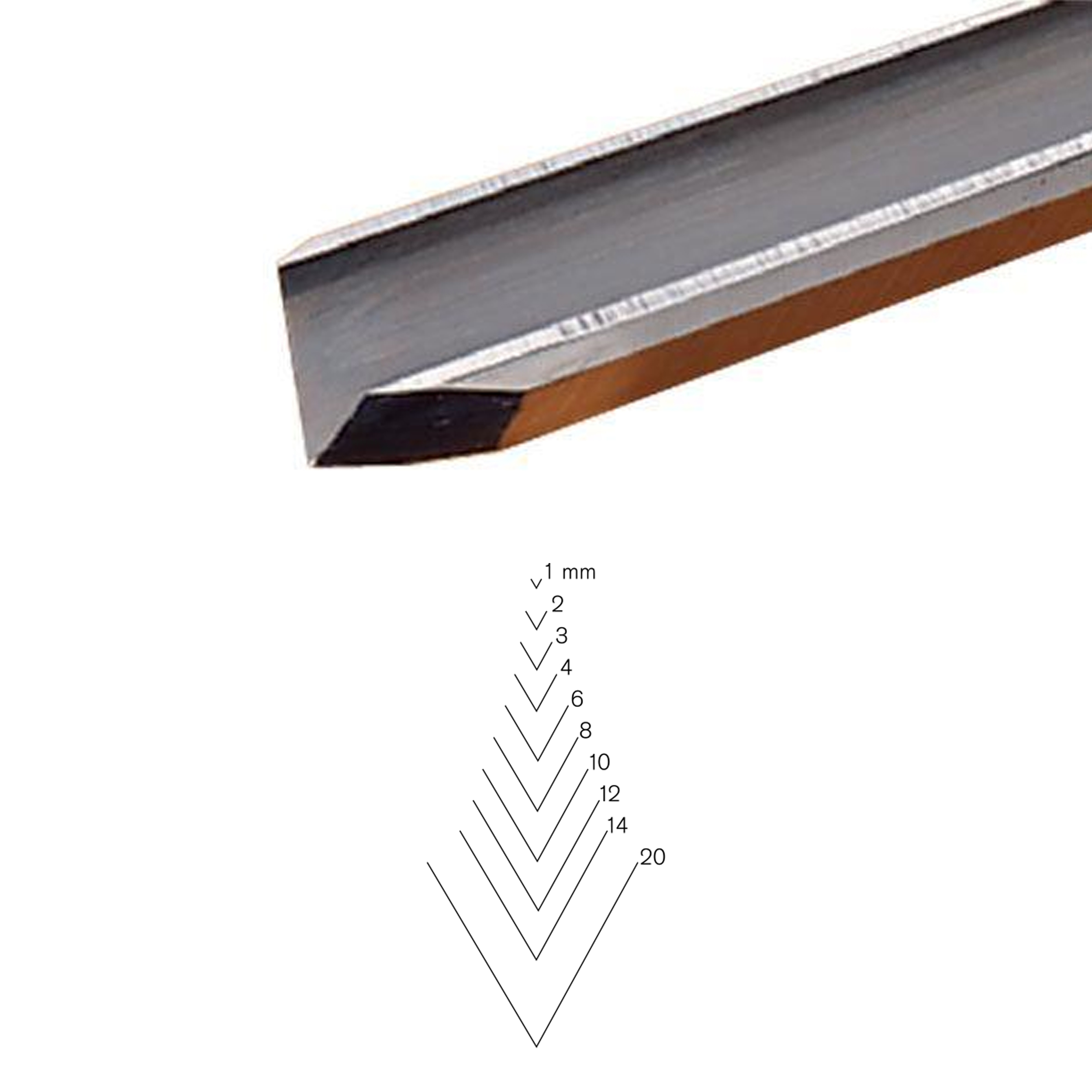 #12 Sweep V-Parting Tool, 14 mm, Full Size