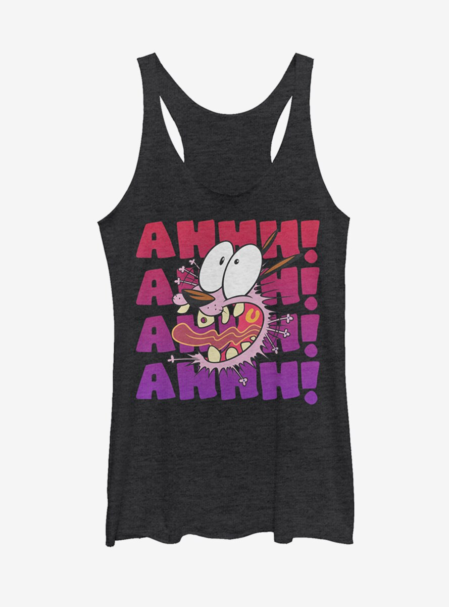 Courage the Cowardly Dog Ahhh! Courage Scream Womens Tank Top