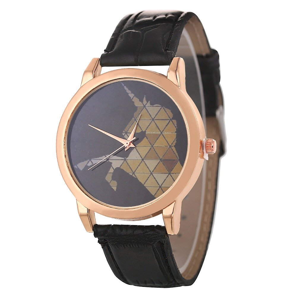 Fashion Minimalist Quartz Watch Waterproof Leather Watch For Couple Watch