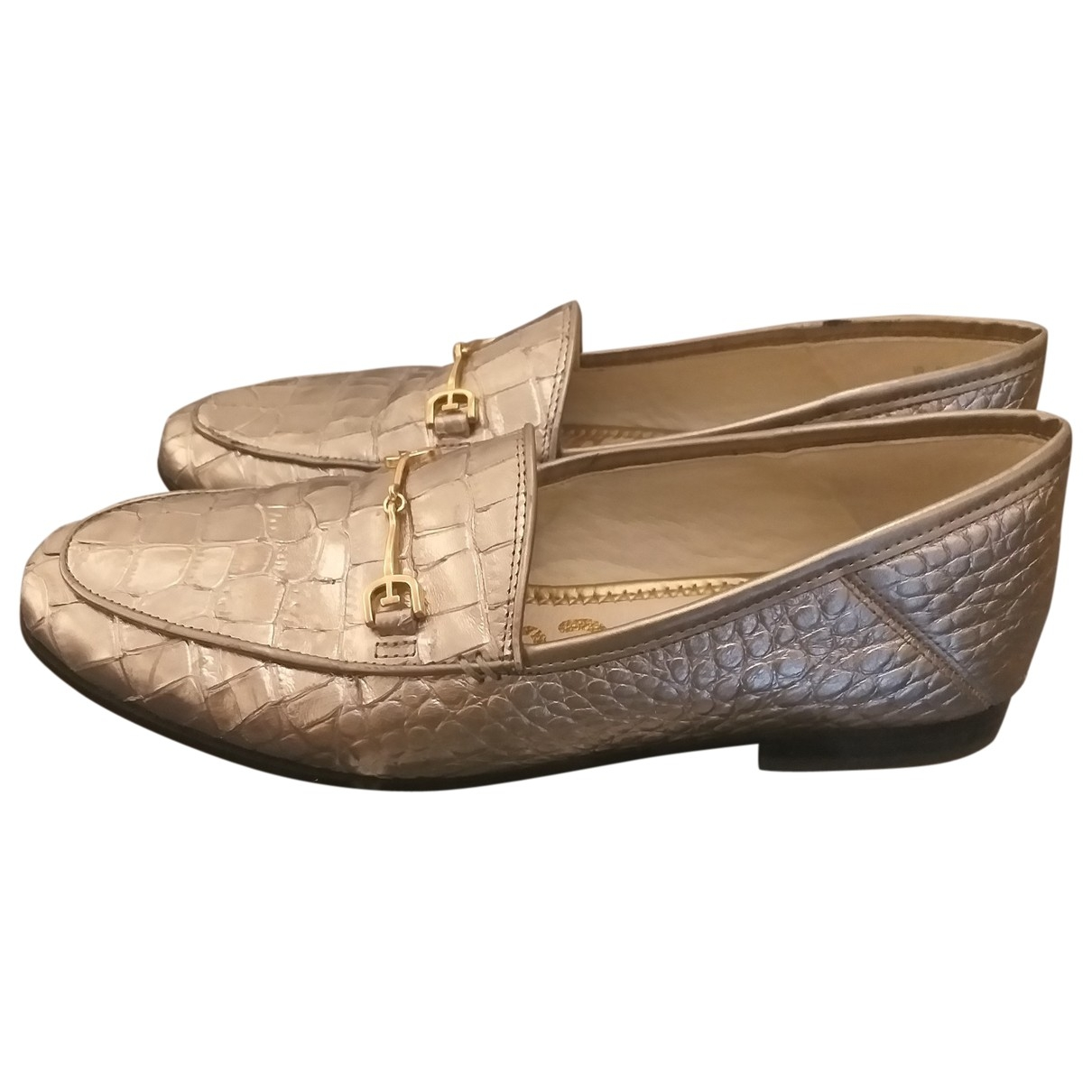 Sam Edelman \N Silver Leather Flats for Women 38 EU