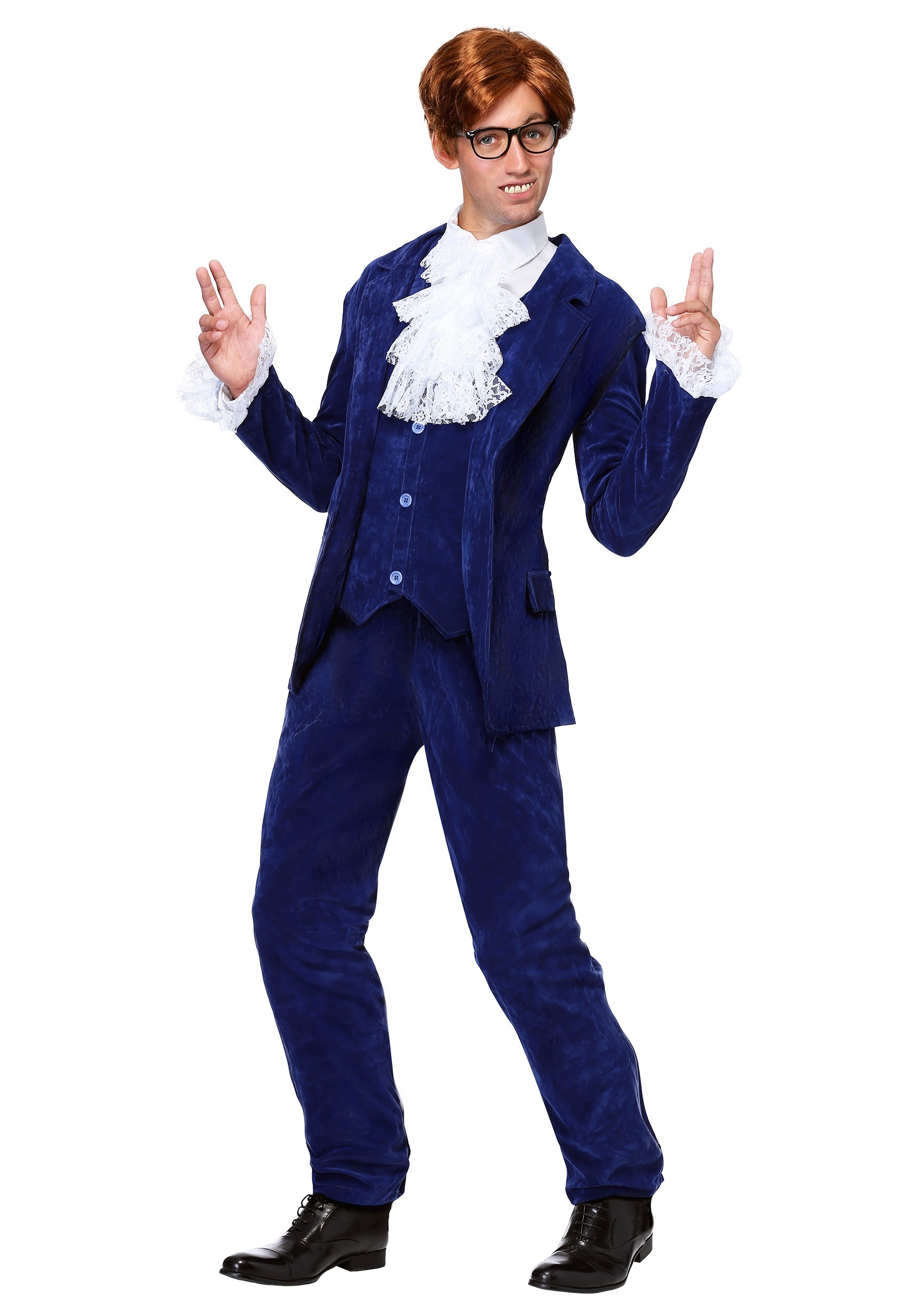 Men's Deluxe Blue 60's Swinger Costume