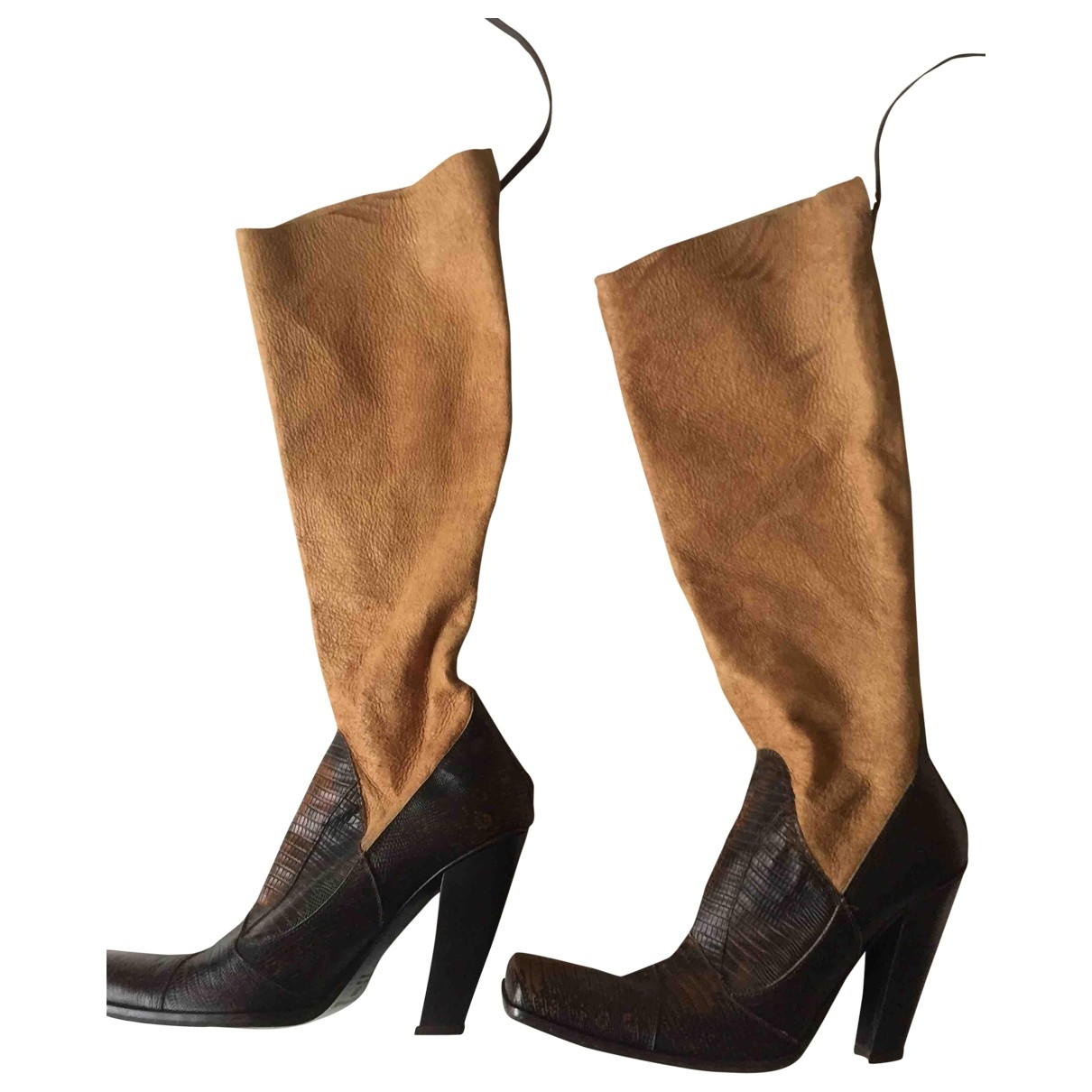 Luca Valentini \N Brown Exotic leathers Boots for Women 37 EU