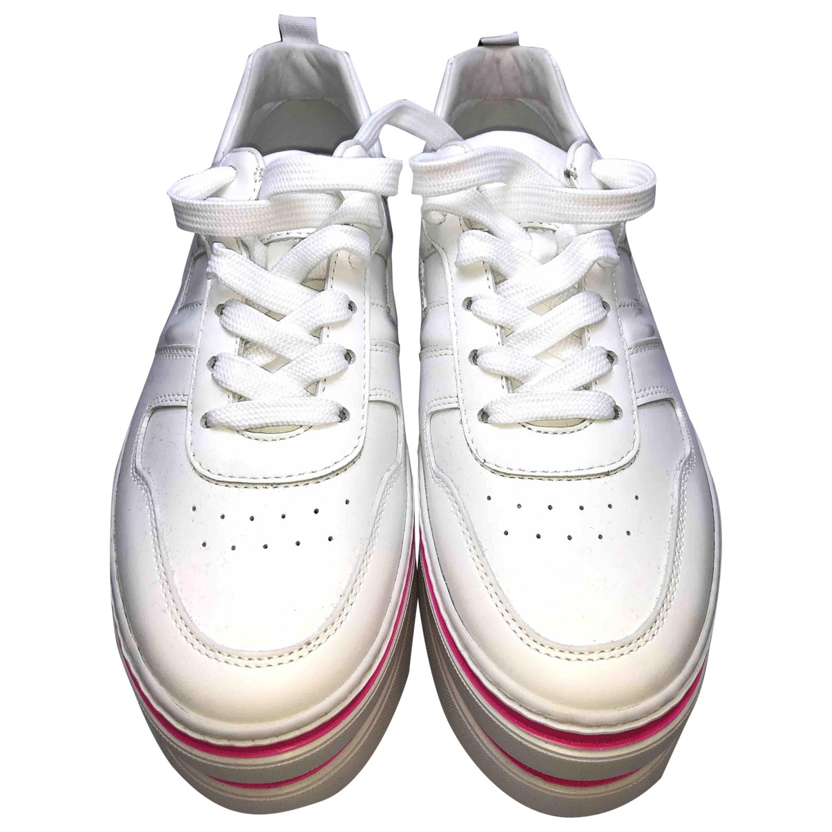 Hogan \N White Leather Trainers for Women 37.5 IT