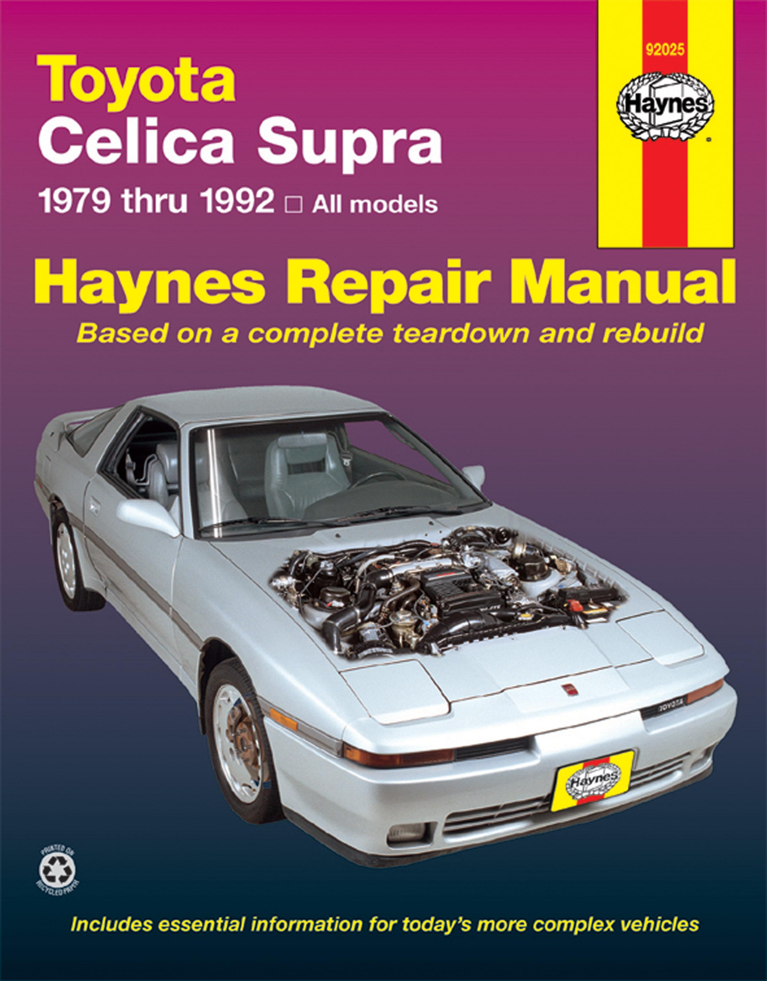 Toyota Celica Supra (79-92) Haynes Repair Manual