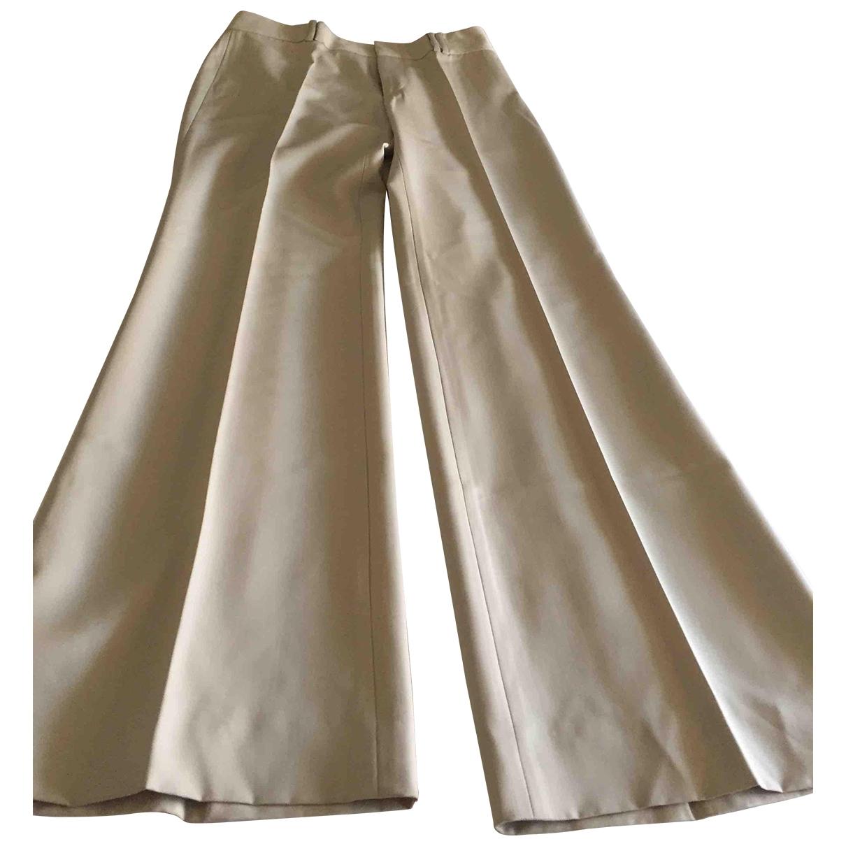 Gucci \N Beige Wool Trousers for Women 40 IT