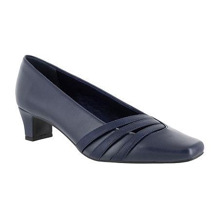Easy Street Womens Entice Pumps Spike Heel, 8 Medium, Blue