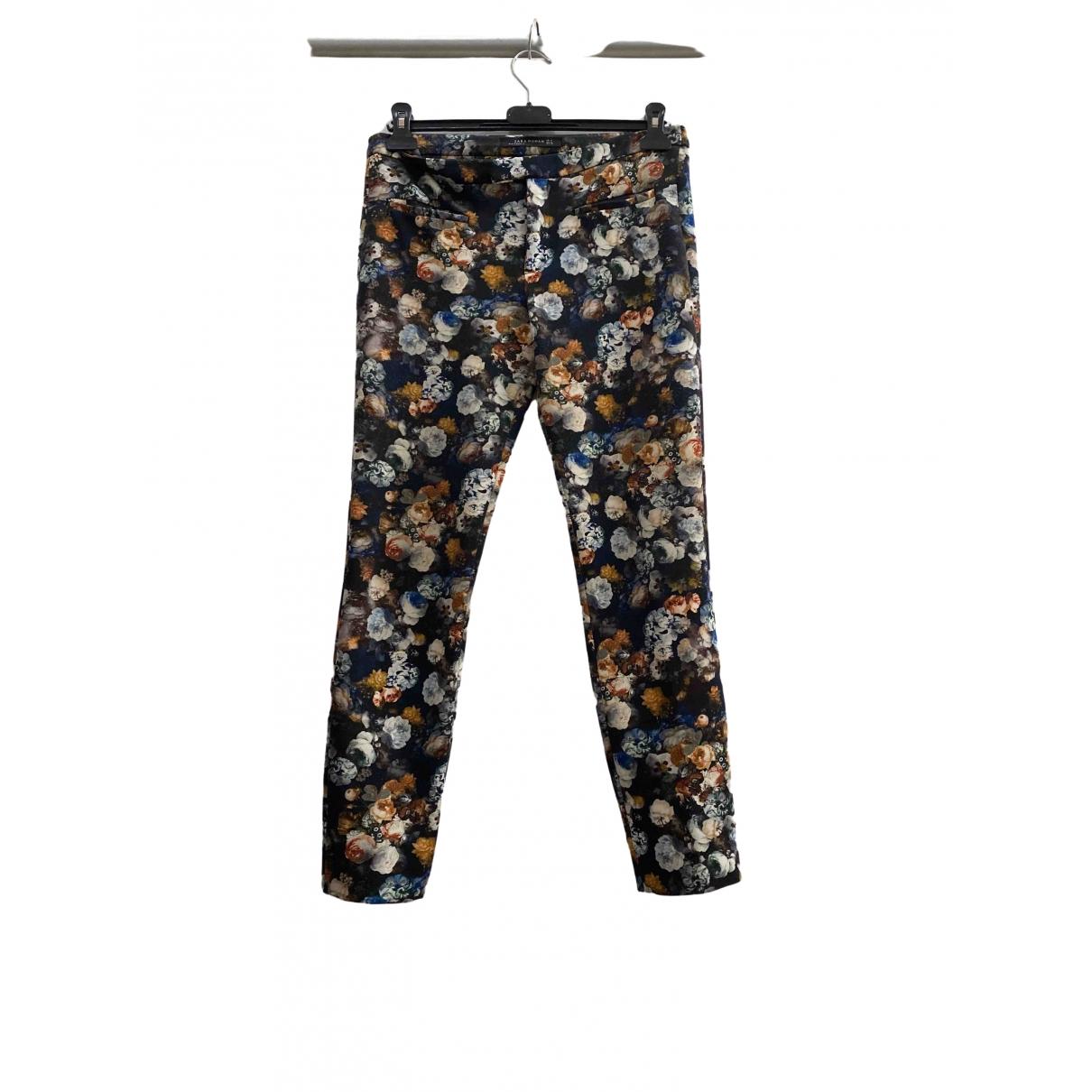 Zara \N Multicolour Trousers for Women 40 IT
