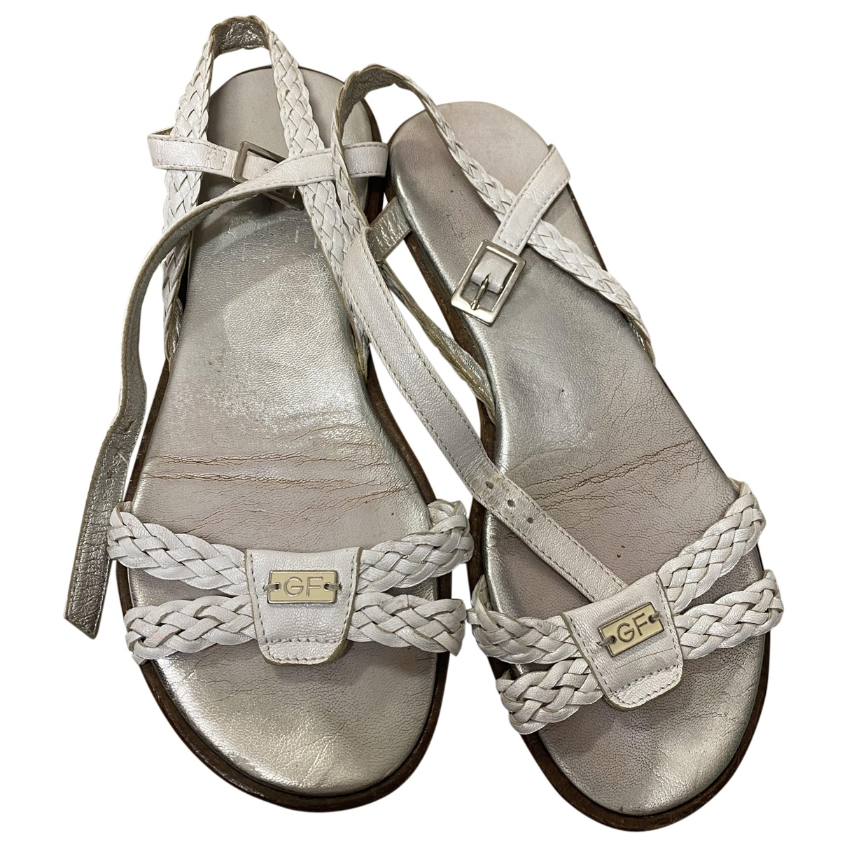 Gianfranco Ferré \N White Leather Sandals for Women 38 EU