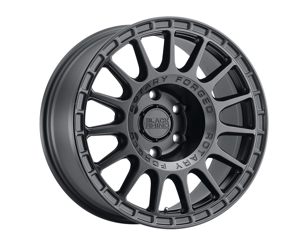 Black Rhino Sandstorm Wheel 17x8  5x114.3 10mm Semi Gloss Black w/Machined Dark Tint Ring
