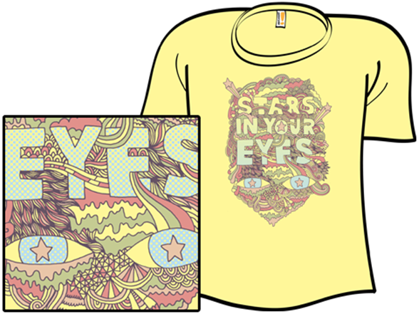Eyes 'n' Stripes T Shirt