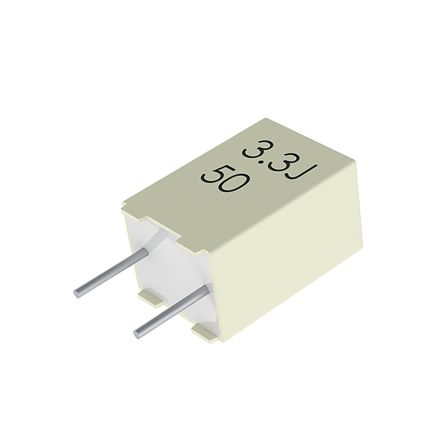 KEMET 10nF Polyester Capacitor PET 63 V ac, 100 V dc ±10%, Through Hole (50)
