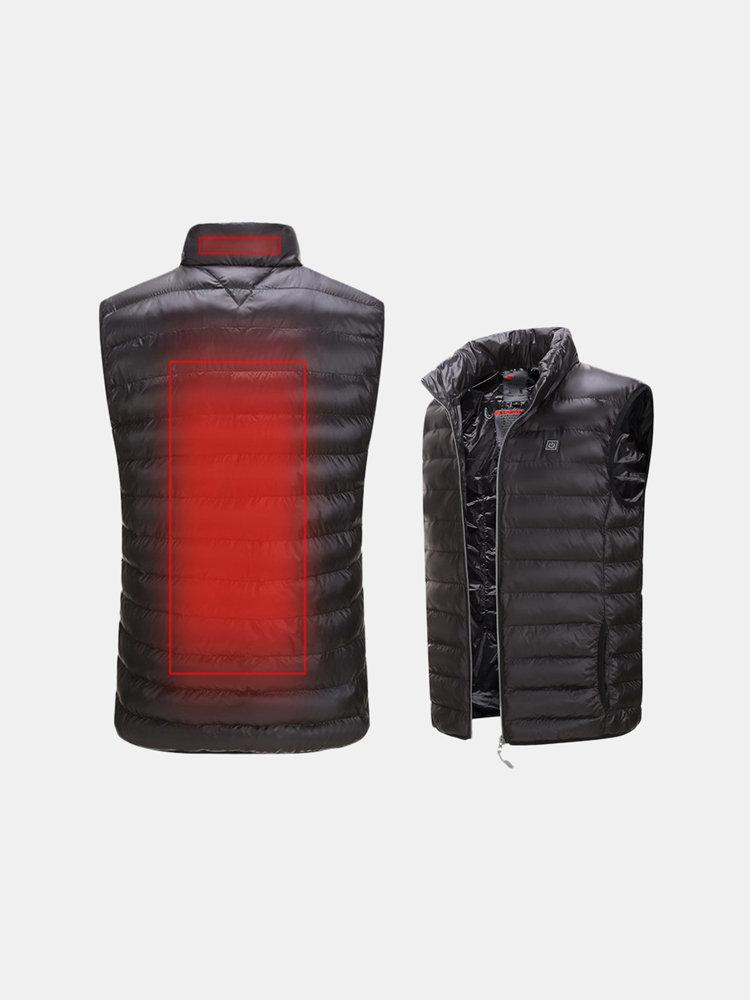 Mens Outdoor Heating Warm Vest USB Safety Intelligent Graphene Carbon Fiber Vest