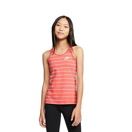 Nike Big Girls Sleeveless T-Shirt, Medium , Red