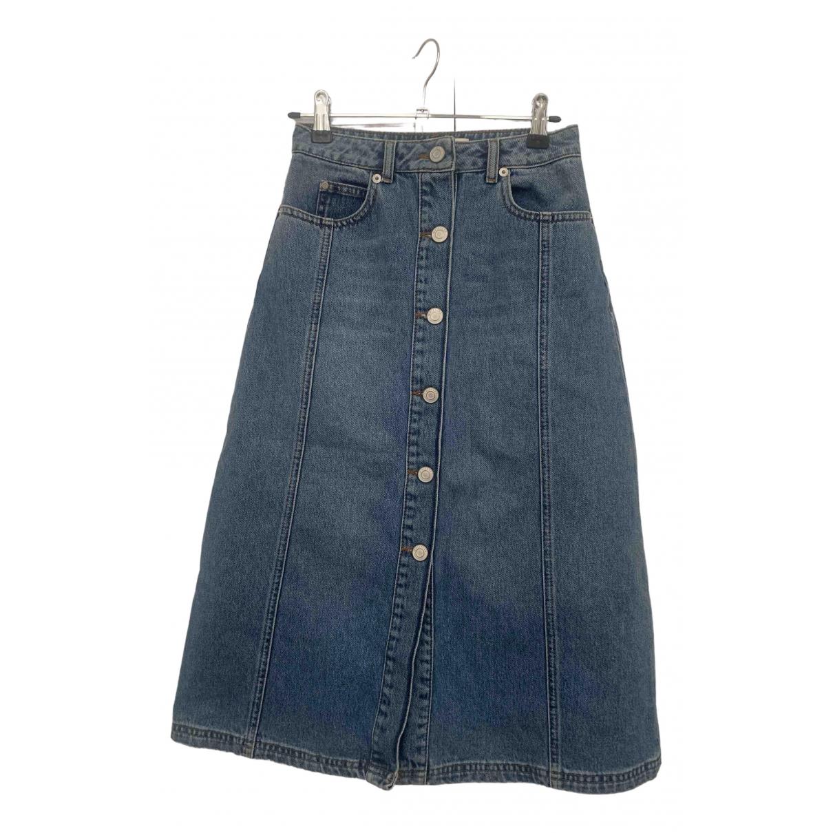 Whistles \N Blue Denim - Jeans skirt for Women 6 UK