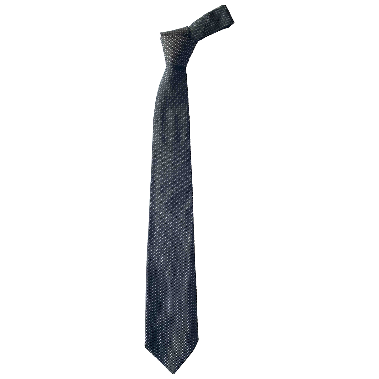 Emporio Armani \N Black Silk Ties for Men \N