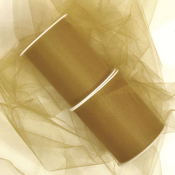 Fabric Cloth Old Gold Bulk Tulle 12