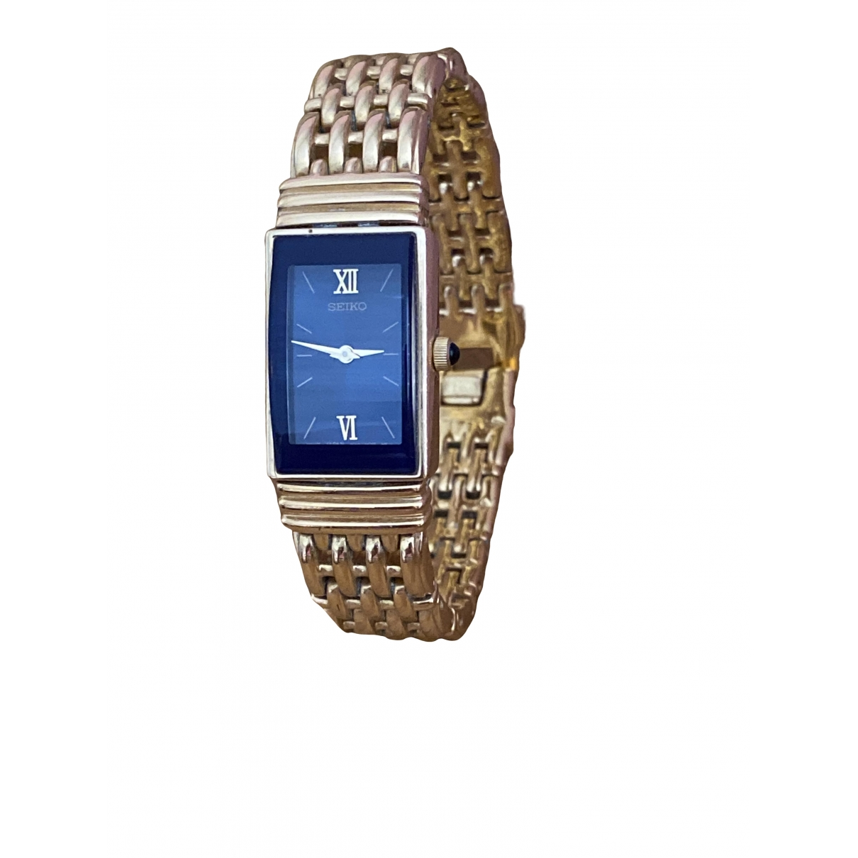 Seiko \N Blue Gold plated watch for Women \N