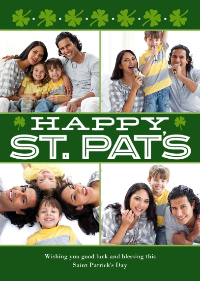 St. Patrick's Day Cards Flat Matte Photo Paper Cards with Envelopes, 5x7, Card & Stationery -Happy St. Pats