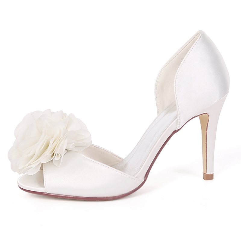 Ericdress Appliques Peep Toe Stiletto Heel Wedding Shoes