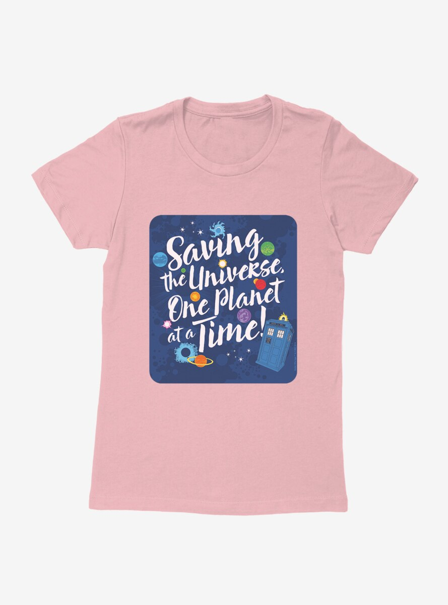 Doctor Who Saving The Universe One Planet At A Time Womens T-Shirt