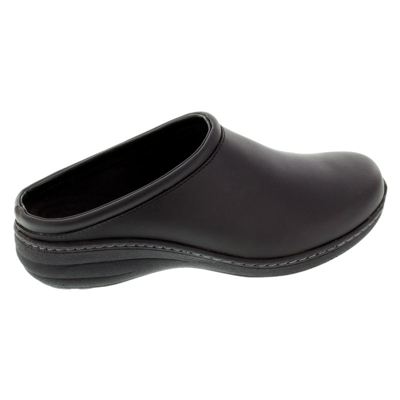 Aetrex Robin Black Oiled Leather Slip-Resistant 38