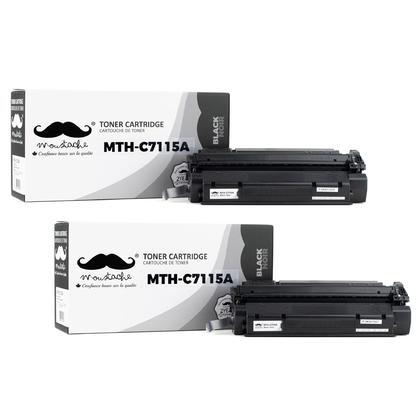 Compatible HP 15A C7115A Black Toner Cartridge - 2/Pack