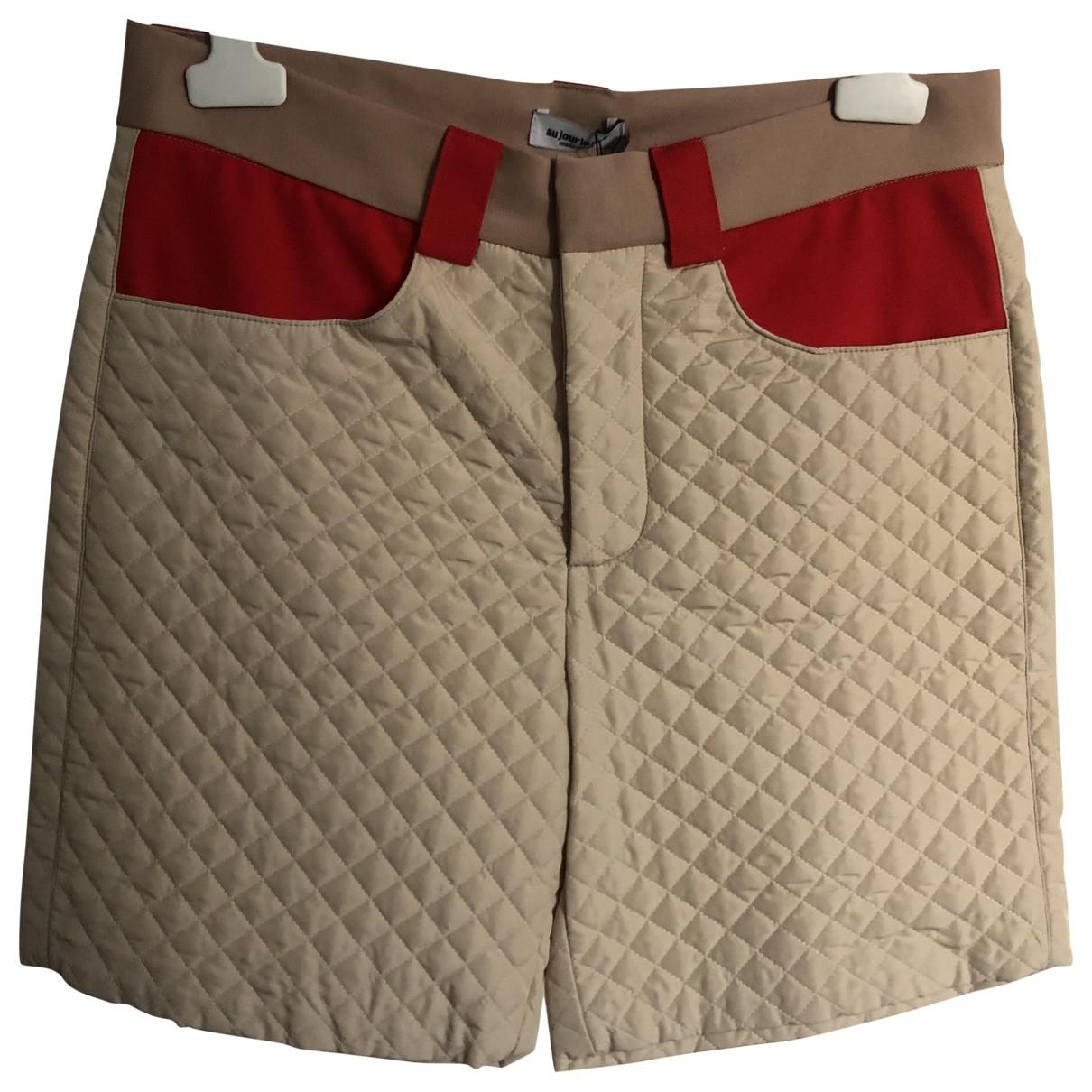 Au Jour Le Jour \N Beige Shorts for Women 46 FR
