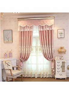 High Quality Modern Embroidery Decoration Grommet Top Sheer Curtain