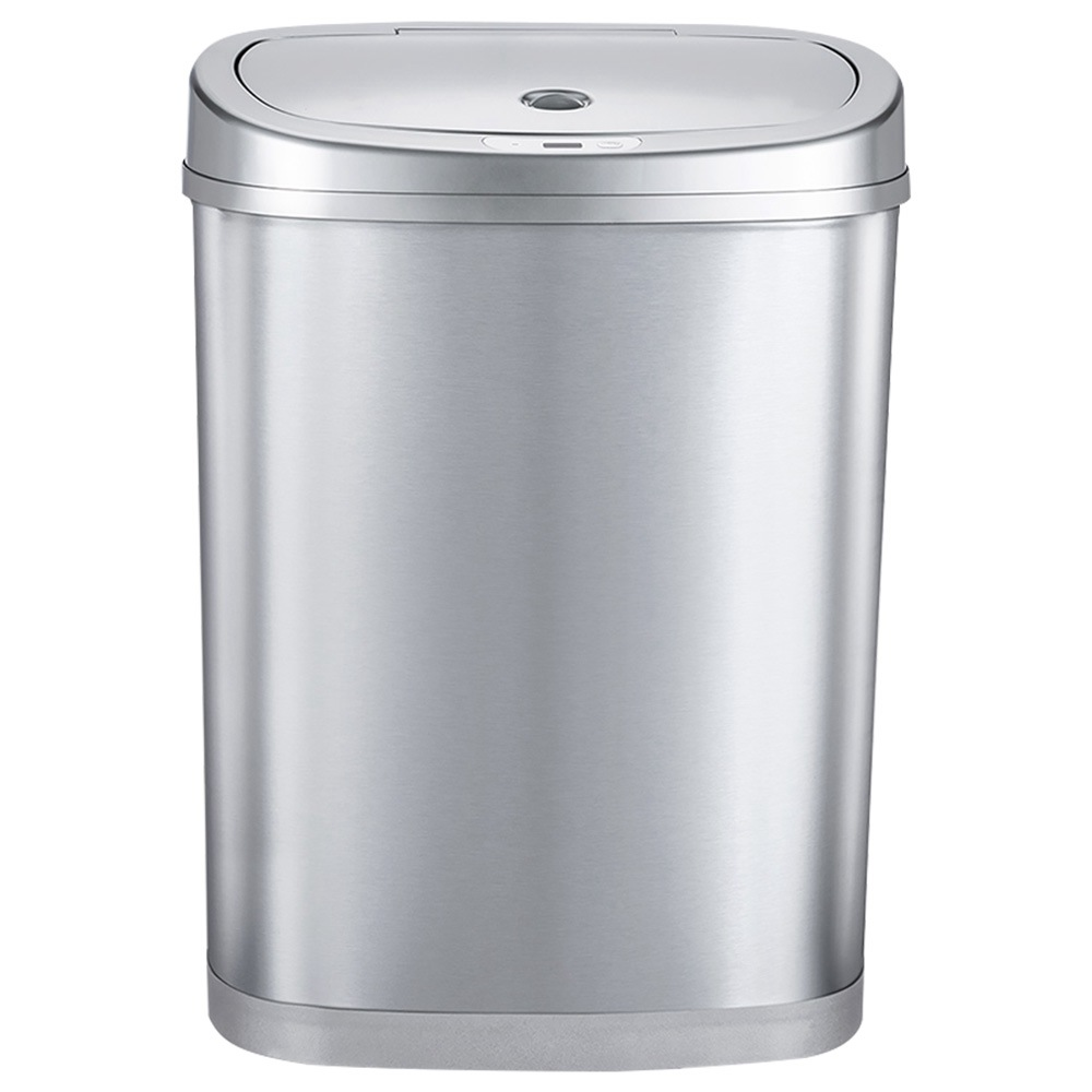Xiaomi NINESTARS Double Classification Induction Trash Can 42 Liters - Silver