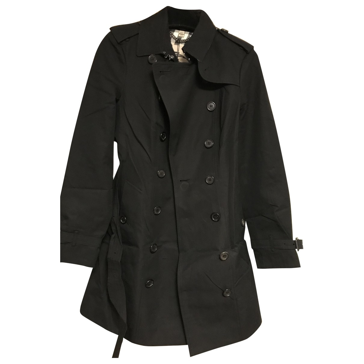 Burberry \N Black Cotton Trench coat for Women 6 UK