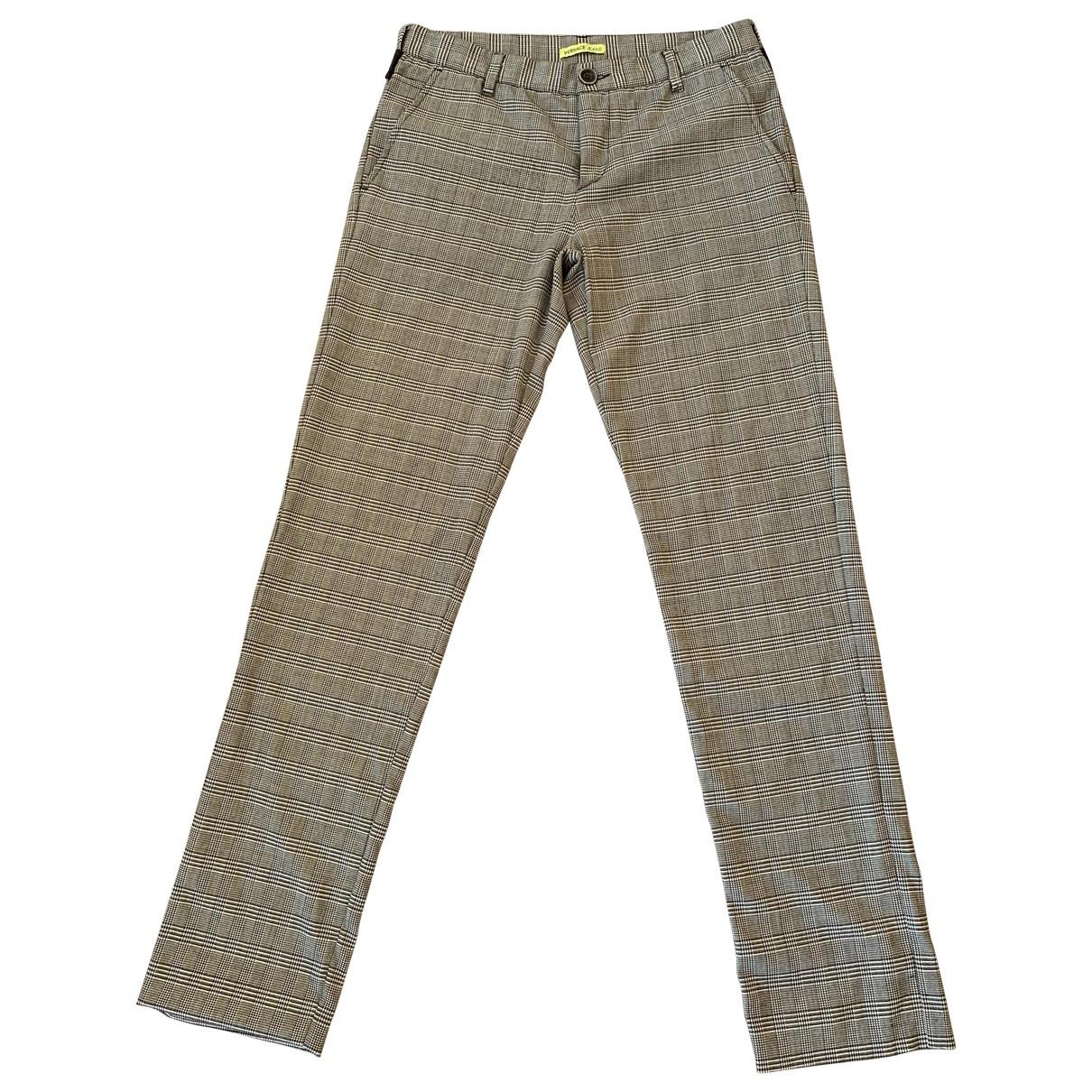 Versace Jeans \N Grey Wool Trousers for Men 34 UK - US