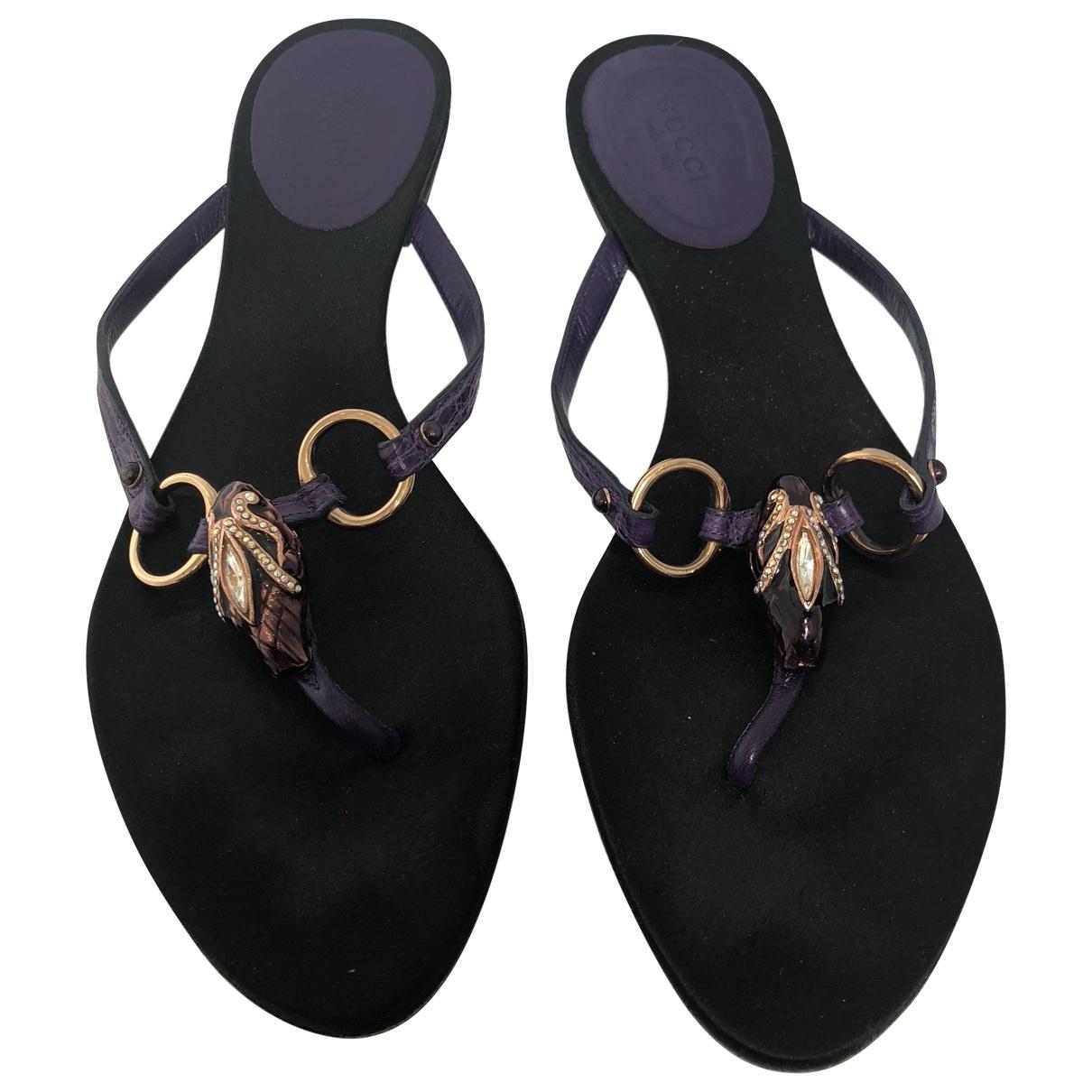 Gucci \N Purple Crocodile Sandals for Women 39 EU