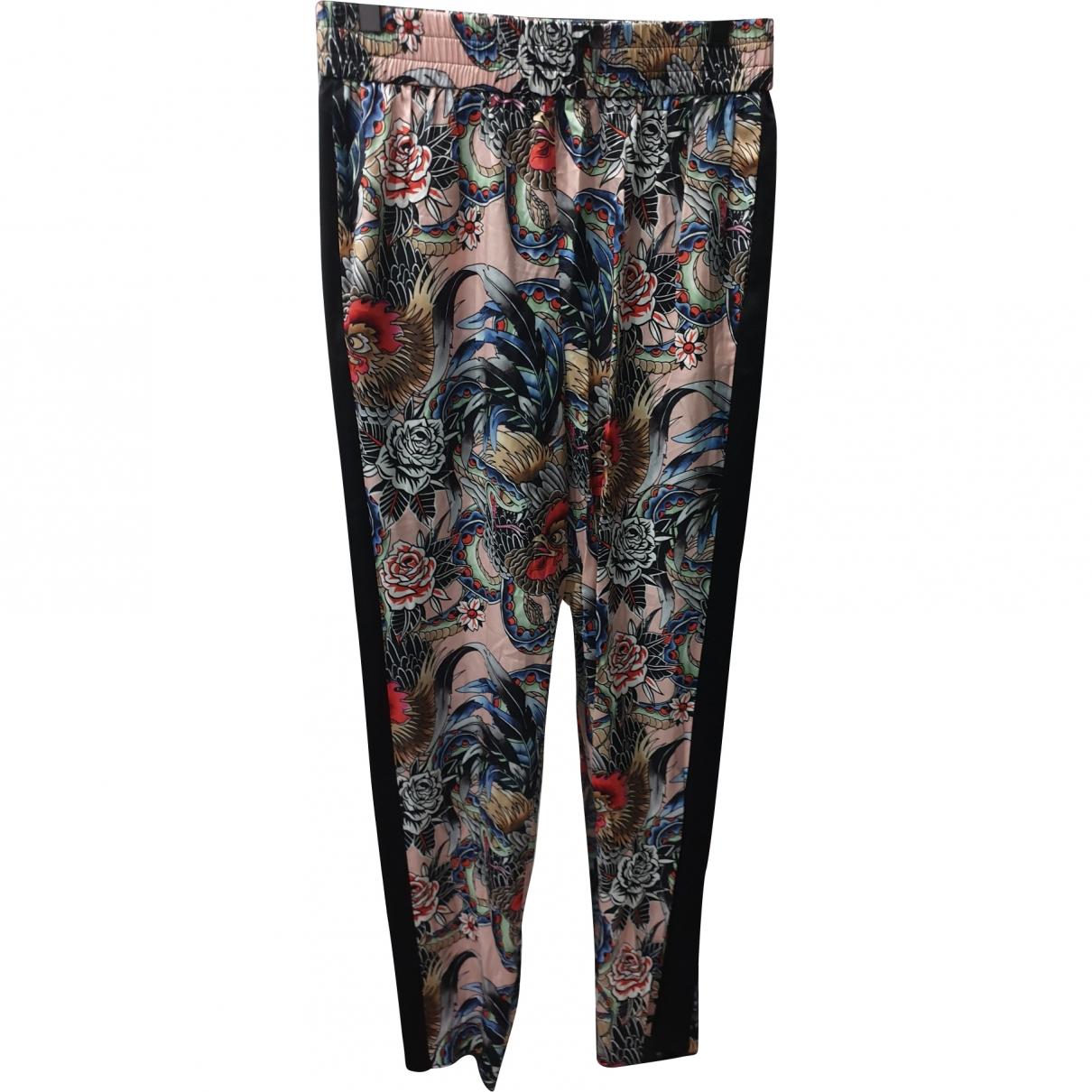 Valentino Garavani \N Multicolour Silk Trousers for Women 40 IT