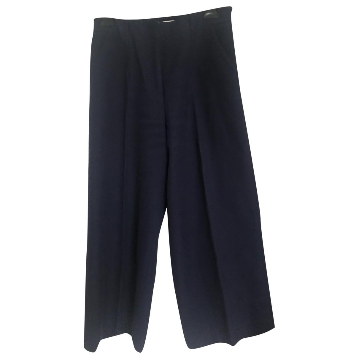 Paul & Joe Sister \N Navy Cotton Trousers for Women 38 FR