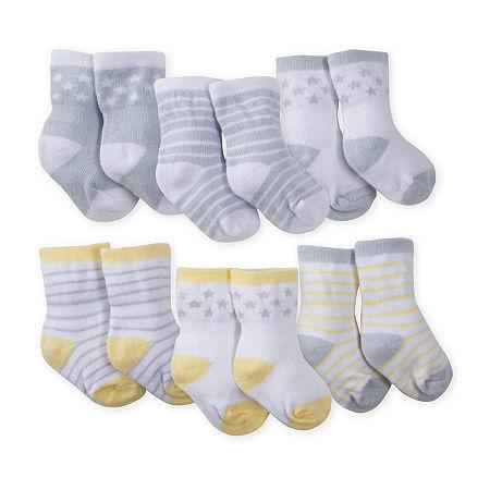 Gerber Baby Unisex Crew Socks, 3-6 Months , Multiple Colors