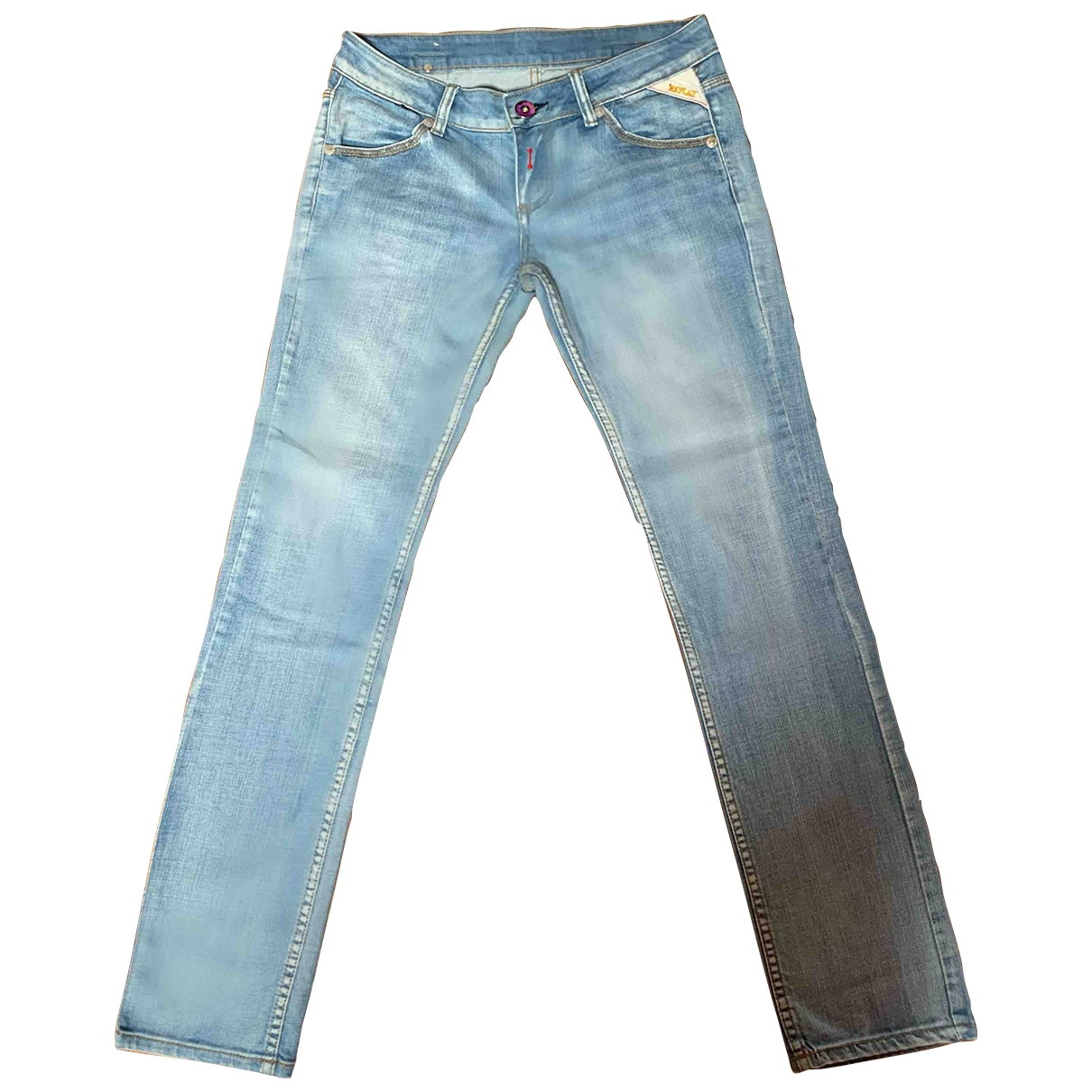 Replay \N Blue Cotton Jeans for Women 30 US