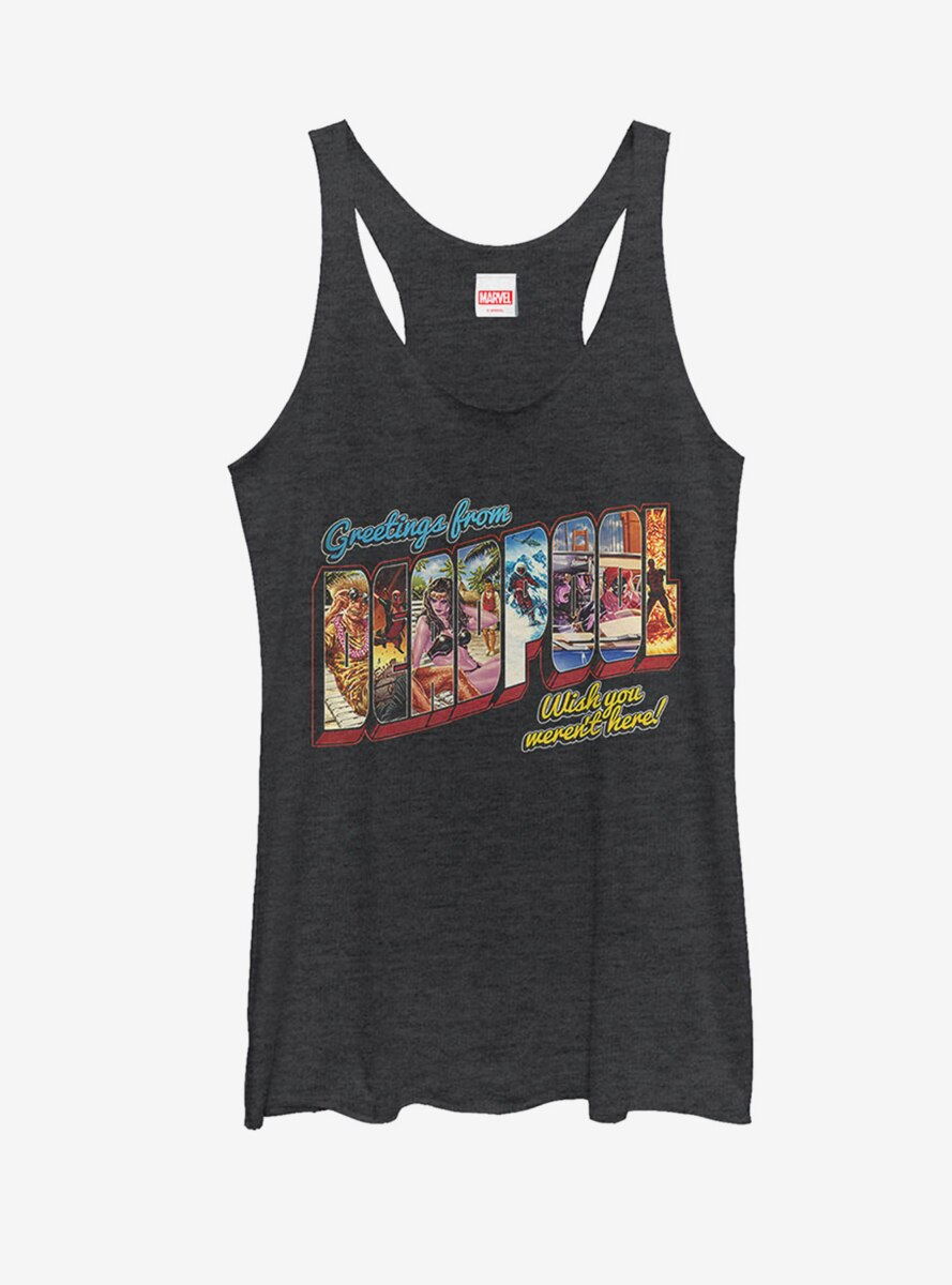Marvel Deadpool Greetings From Vacation Womens Tank