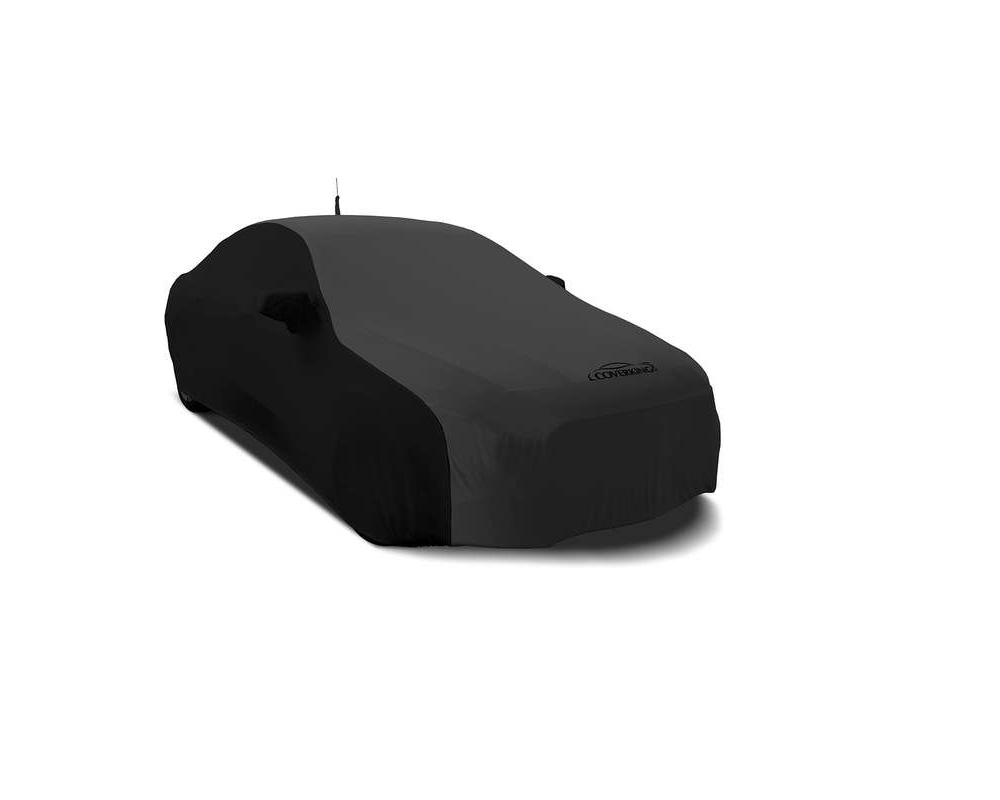 Coverking CVC4SS278SU9481 CVC4SS278 Satin Stretch 2-Tone Black Sides Dark Grey Center Custom Car Cover Subaru Ascent 19-20