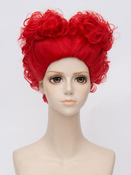 Milanoo Alice In Wonderland Red Queen Cosplay Wig Halloween