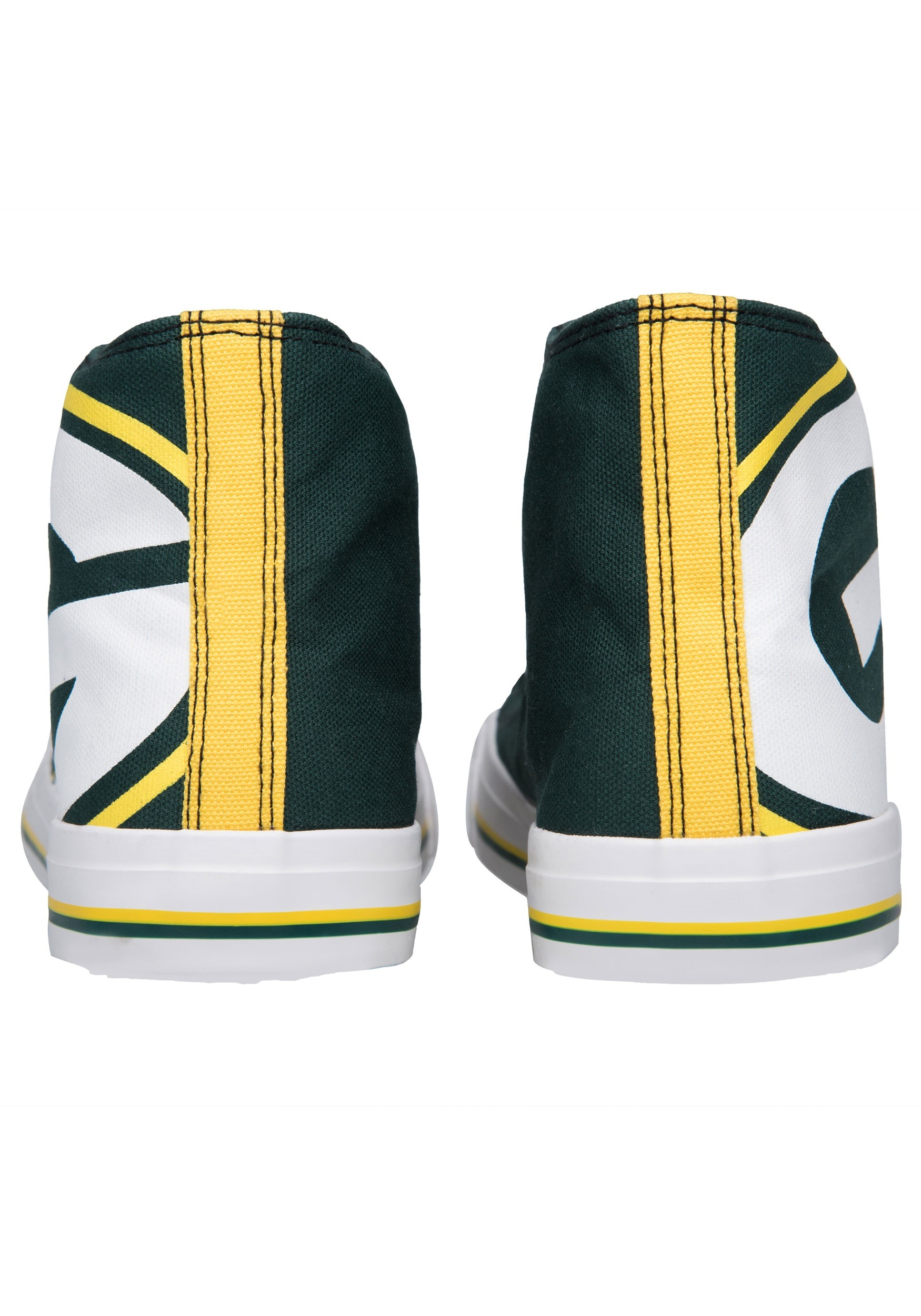Green Bay Packers High Top Big Logo Canvas Shoes for Men